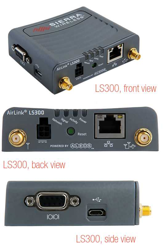Routeur 3G : LS Séries ( 3G, 1 Ethernet, 1 RS-232 serial, 1 Digital I/O, and 1 USB port)