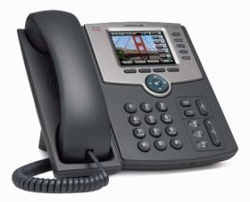 SPA525G2 : Téléphone IP 5 Line Cisco SB PR- Color Display : PoE : 802.11g : Bluetooth
